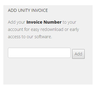 Add unity invoice number to your account.